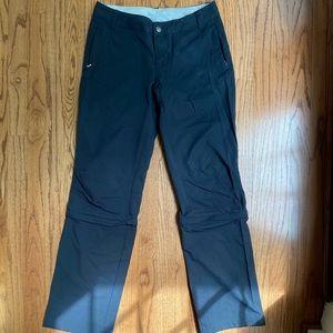 REI Womens hiking zip-off pants size 4 grey
